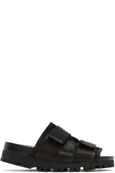 D by D - Black Mesh Velcro Sandals