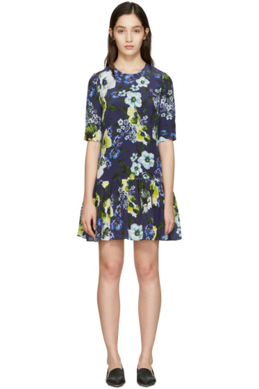 Erdem - Navy Emmie Dress
