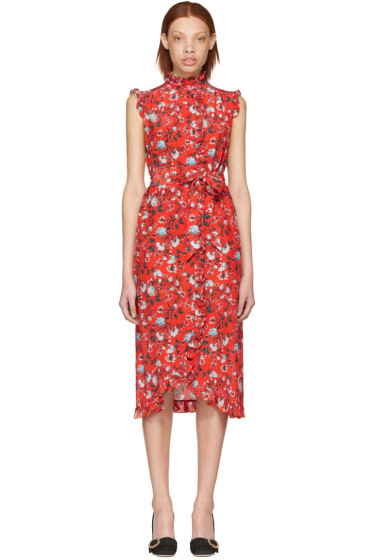 Erdem - Red Sebla Convertine Dress