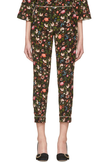 Erdem - Black Guillia Convertine Cigarette Trousers