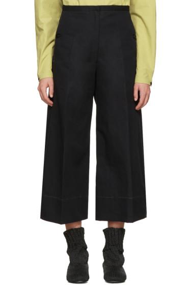 Lemaire - Black Large Crop Trousers