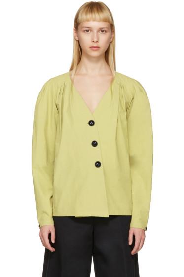 Lemaire - Green Deep V-Neck Shirt