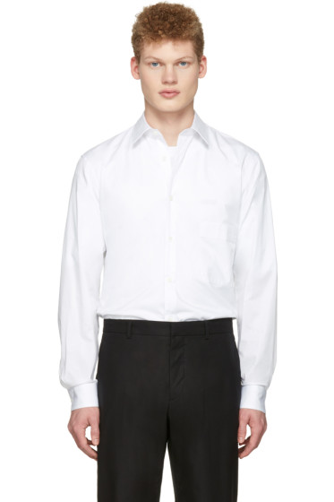 Lemaire - White Straight Collared Shirt