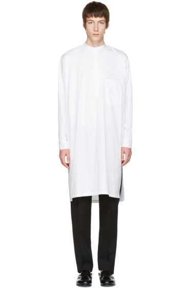 Lemaire - White Long Poplin Shirt