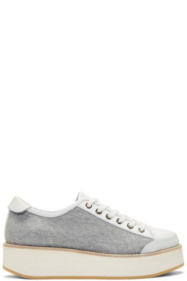 Flamingos - Grey Jersey Tatum Sneakers