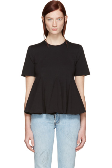 Edit - Black Godet T-Shirt