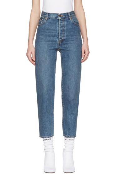 Vetements - Blue Levi's Edition Classic High Waist Jeans