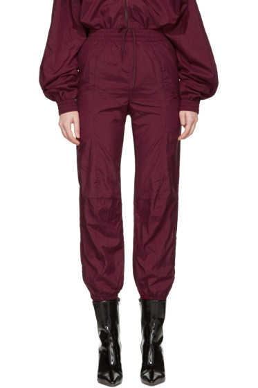 Vetements - Burgundy Reebok Edition Biker Track Pants