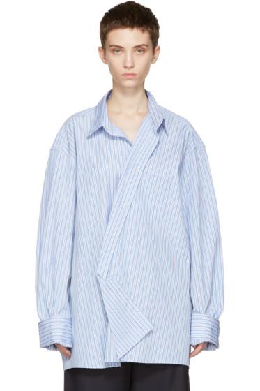 Vetements - Blue Comme des Garçons Edition Asymmetric Packshot Shirt
