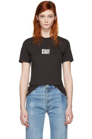 Vetements - Black Hanes Edition Quick Made T-Shirt