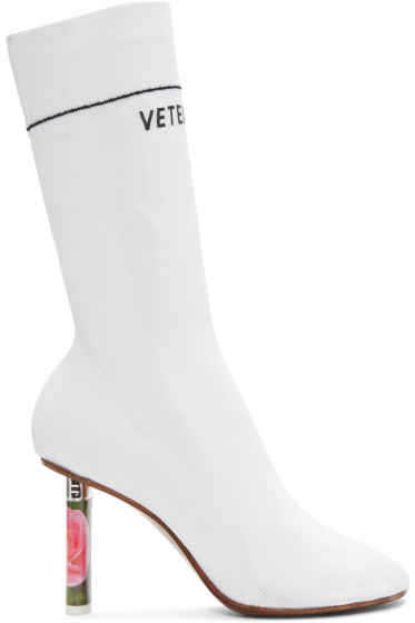 Vetements - White Rose Lighter Sock Boots