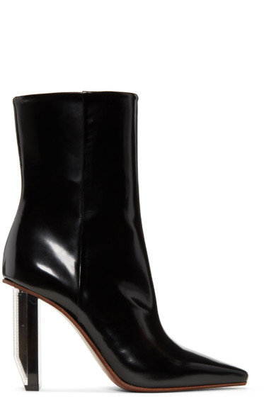 Vetements - Black & Silver Reflector Heel Boots