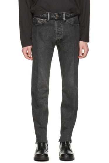 Vetements - Black Levi's Edition Classic Reworked Denim Jeans