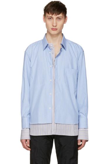 Vetements - Blue Comme des Garçons Edition Double Stitched Shirt