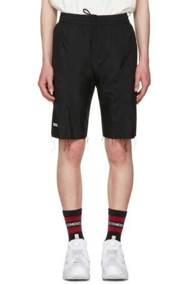 Vetements - Black Reebok Edition Biker Track Shorts