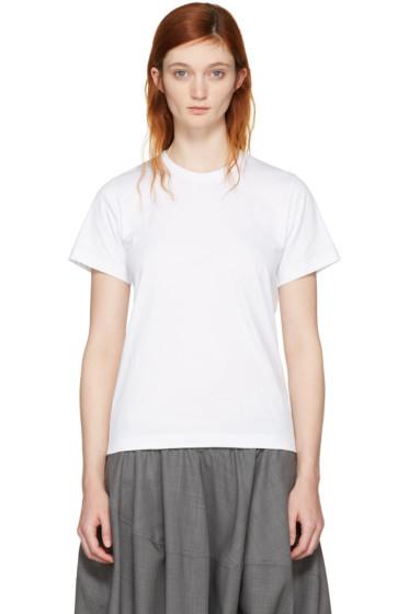 Comme des Garçons Comme des Garçons - White Cotton T-Shirt