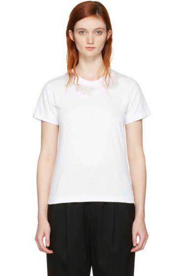 Comme des Garçons Comme des Garçons - White Pearl Necklace T-Shirt