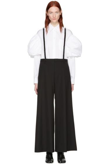 Noir Kei Ninomiya - Black Studded Suspender Trousers