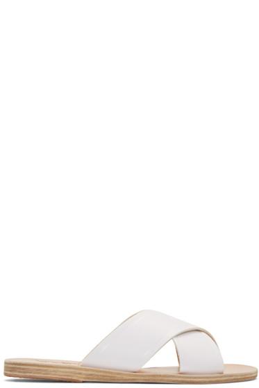 Ancient Greek Sandals - White Thais Sandals