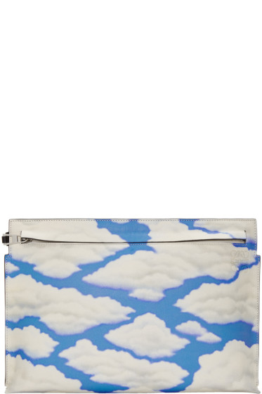 Loewe - Black & Blue Handpainted Clouds T Pouch