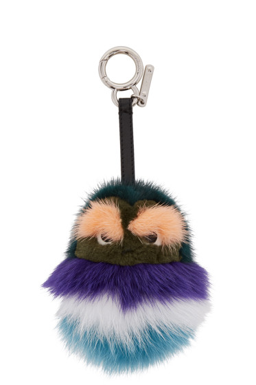 Fendi - Green Fur Kid Keychain