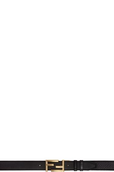Fendi - Reversible Black Logo Buckle Belt