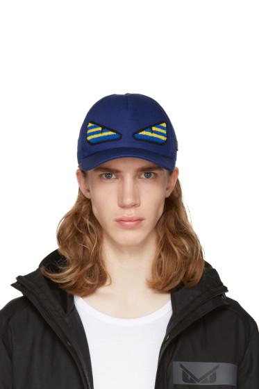 Fendi - Navy 'Bag Bug' Cap