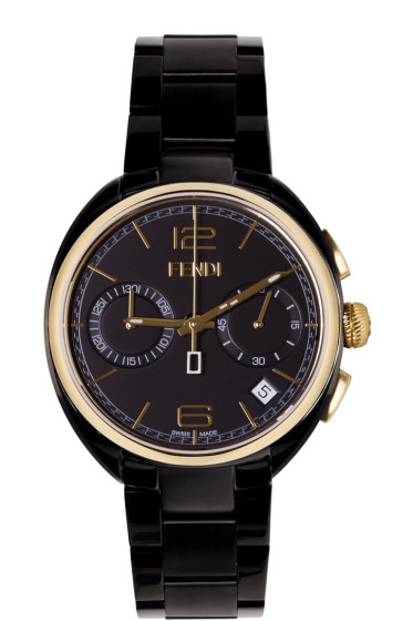 Fendi - Black & Gold Momento Watch