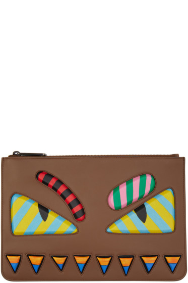 Fendi - Brown 'Bag Bug' Pouch