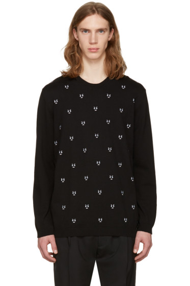 Fendi - Black 'No Words' Pullover