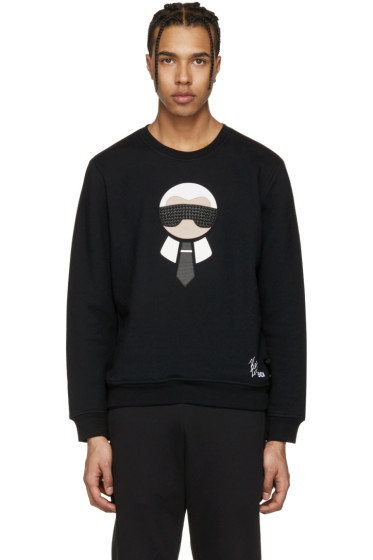 Fendi - Black Karlito Sweatshirt