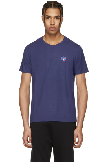 Fendi - Blue 'Fendi Bubble' T-Shirt
