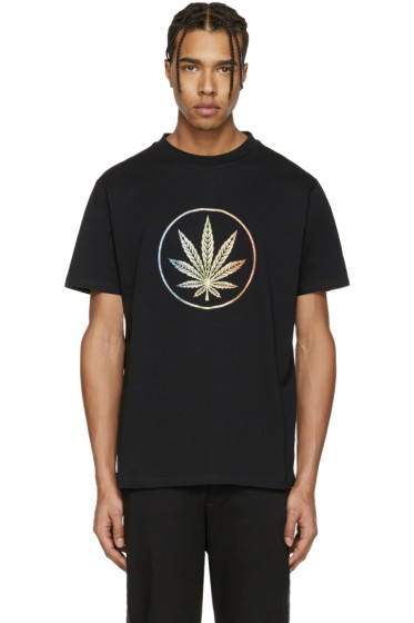 Palm Angels - Black Rainbow Weed T-Shirt
