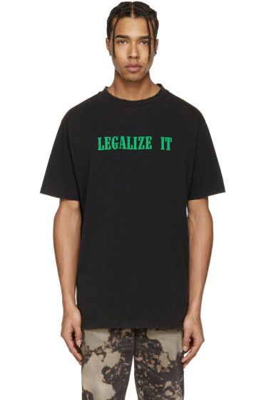 Palm Angels - Black 'Legalize It' T-Shirt