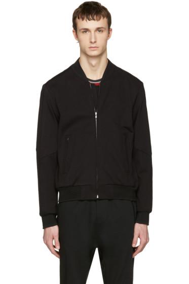 Wooyoungmi - Black Jersey Bomber Jacket