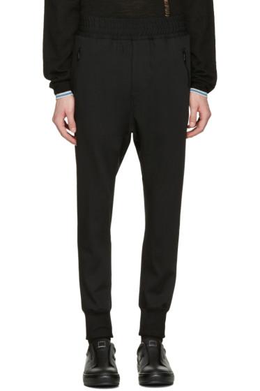 Wooyoungmi - Black Fleece Wool Lounge Pants