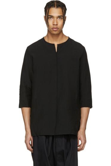 Attachment - Black Oversized Linen Shirt