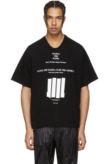 NILøS - ブラック グラフィック T シャツ