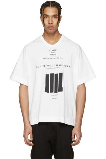 NILøS - ホワイト グラフィック T シャツ