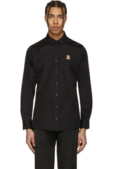 Moschino - Black Bear Patch Shirt