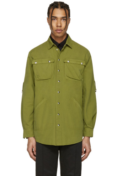 Moschino - Green Military Shirt