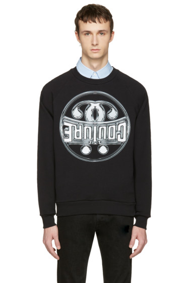 Moschino - Black Cotton 'Couture' Pullover