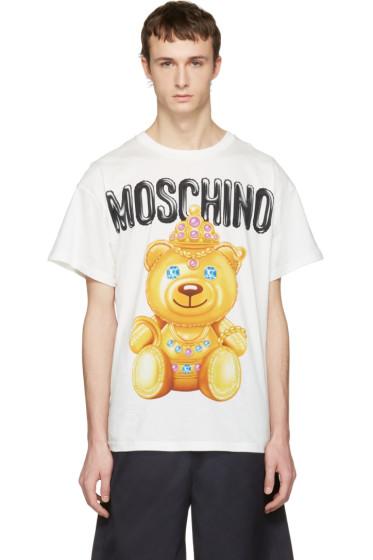 Moschino - White Jewel Bear T-Shirt