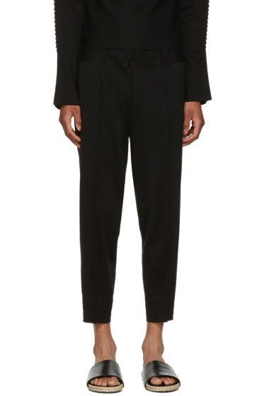 Issey Miyake Men - Black Pleated Lounge Pants