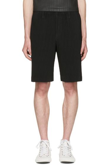 Homme Plissé Issey Miyake - Black Classic Pleats Shorts