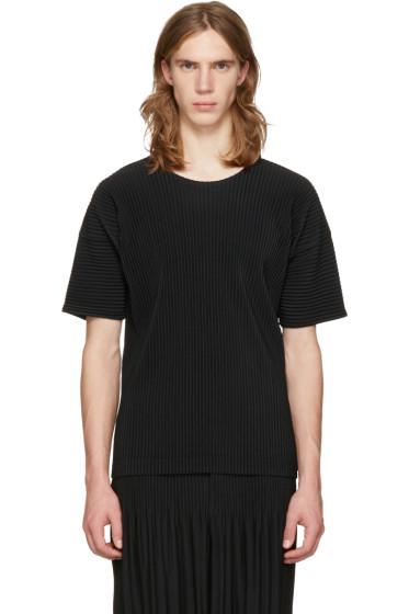 Homme Plissé Issey Miyake - Black Classic Pleats Basic T-Shirt