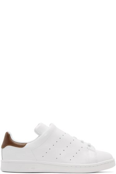 Y's - White adidas Originals Edition Diagonal Stan Smith Sneakers