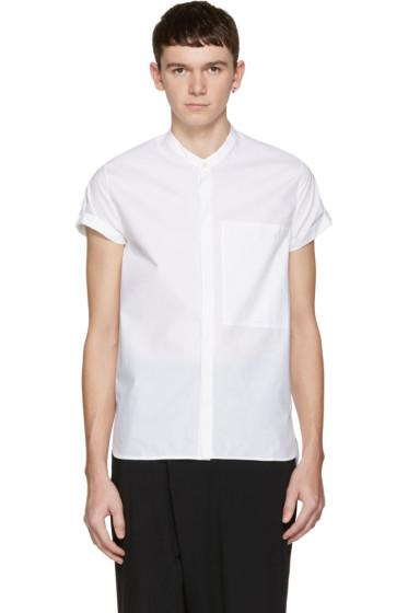 Isabel Benenato - White Poplin Shirt