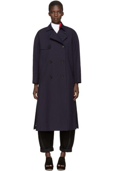 Enfold - Navy Trench Coat