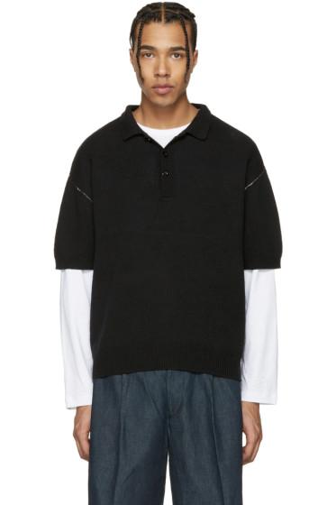 Tomorrowland - Black Contrast Stitch Polo